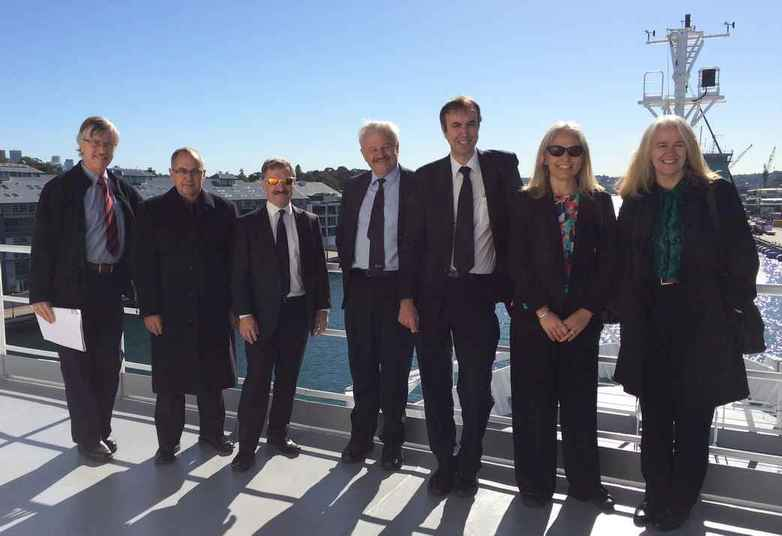 UNSW group aboard RV Investigator
